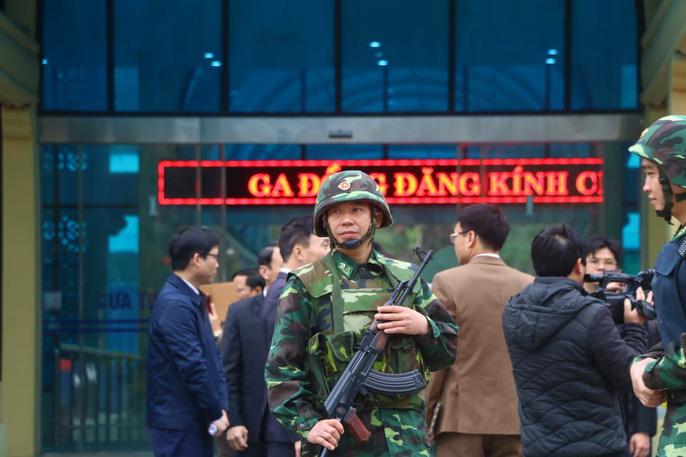 Nhiều lớp an ninh thắt chặt tối đa ở ga Đồng Đăng trước Thượng đỉnh Mỹ-Triều - Ảnh 6