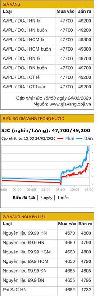 Giá vàng bán ra lên đến 49,2 triệu đồng/lượng, cao nhất trong vòng 9 năm trở lại đây - Ảnh 6