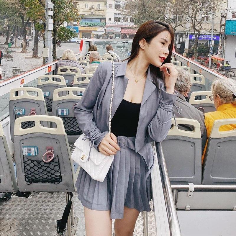 Tuyệt chiêu mix áo blazer thanh lịch của sao Việt ngày giao mùa - Ảnh 5