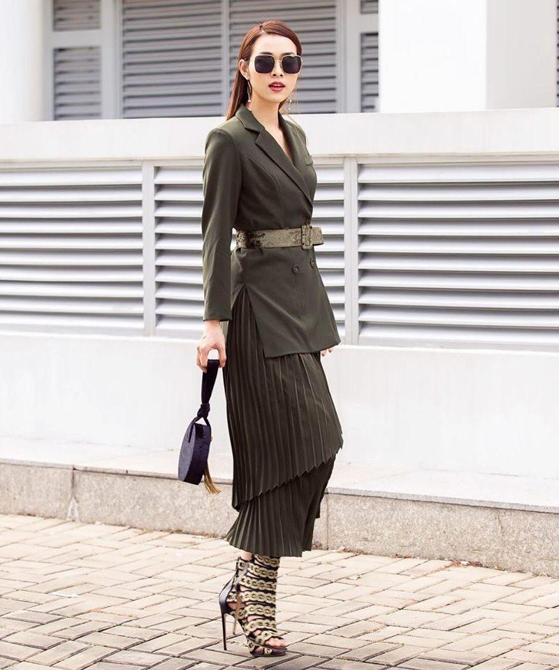 Tuyệt chiêu mix áo blazer thanh lịch của sao Việt ngày giao mùa - Ảnh 10