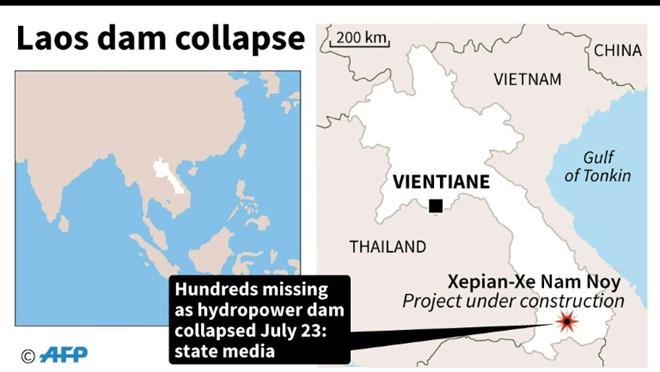 Vỡ đập thủy điện dọc sông Mekong ở Lào, hàng trăm người mất tích - Ảnh 4