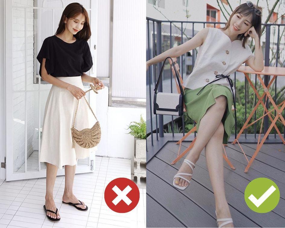 Không phải váy và loại giày nào cũng ăn ý với nhau, nhưng bạn diện 4 công thức sau thì dứt khoát đẹp - Ảnh 1