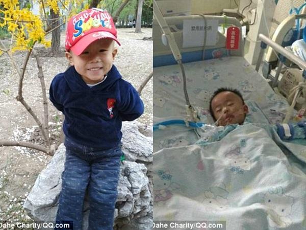 Thấy mẹ tuyệt vọng vì cạn tiền, cậu bé 3 tuổi bị ung thư lau nước mắt an ủi: 'Mẹ đừng khóc' - Ảnh 1