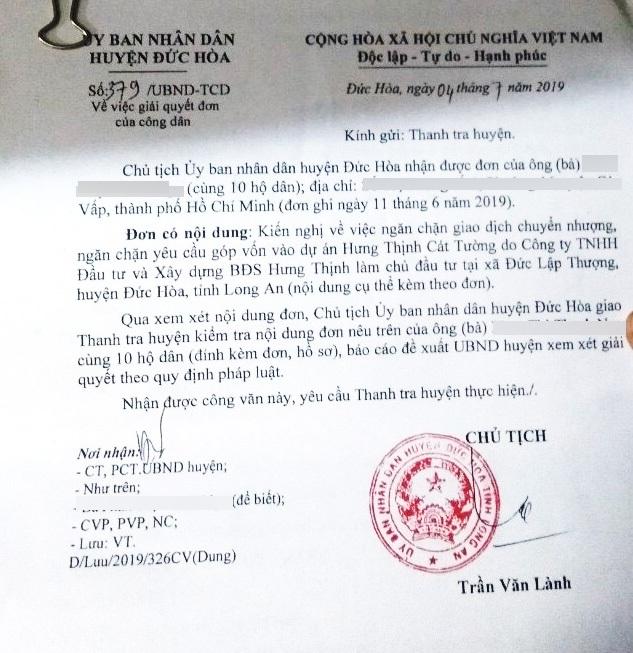 Long An tiếp tục xử phạt công ty Hưng Thịnh Cát Tường và Thiên Phúc  - Ảnh 2
