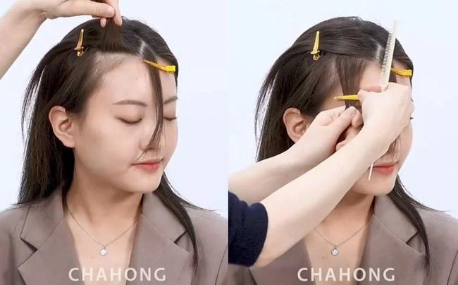 2 cách cắt tóc mái thưa chéo siêu nhanh, đảm bảo không lỗi mà còn đẹp hơn cả ngoài tiệm - Ảnh 5