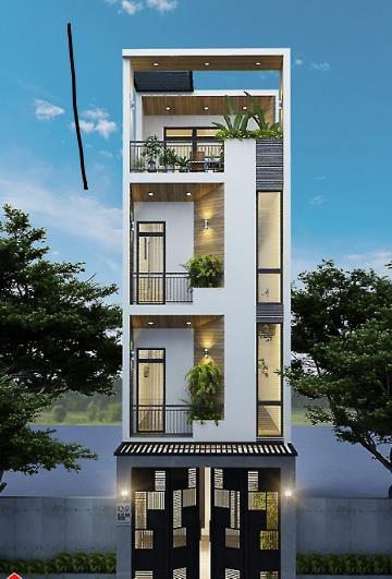 Mẫu nhà phố 4 tầng vẻ đẹp hiện đại gây sốt - Ảnh 1
