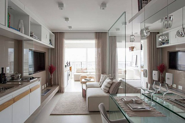 'Tuyệt chiêu' giúp căn hộ 35 m2 sang trọng như rộng gấp đôi - Ảnh 1