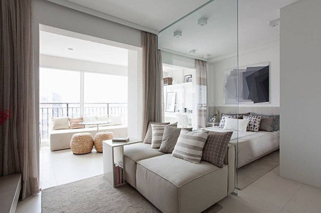 'Tuyệt chiêu' giúp căn hộ 35 m2 sang trọng như rộng gấp đôi - Ảnh 2