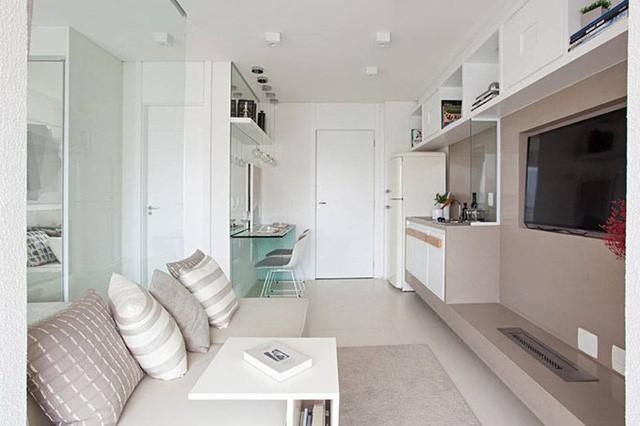 'Tuyệt chiêu' giúp căn hộ 35 m2 sang trọng như rộng gấp đôi - Ảnh 3