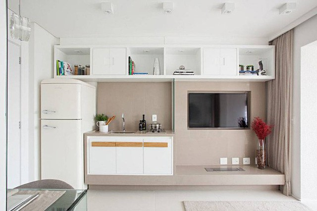 'Tuyệt chiêu' giúp căn hộ 35 m2 sang trọng như rộng gấp đôi - Ảnh 4