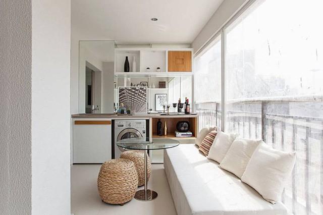 'Tuyệt chiêu' giúp căn hộ 35 m2 sang trọng như rộng gấp đôi - Ảnh 8