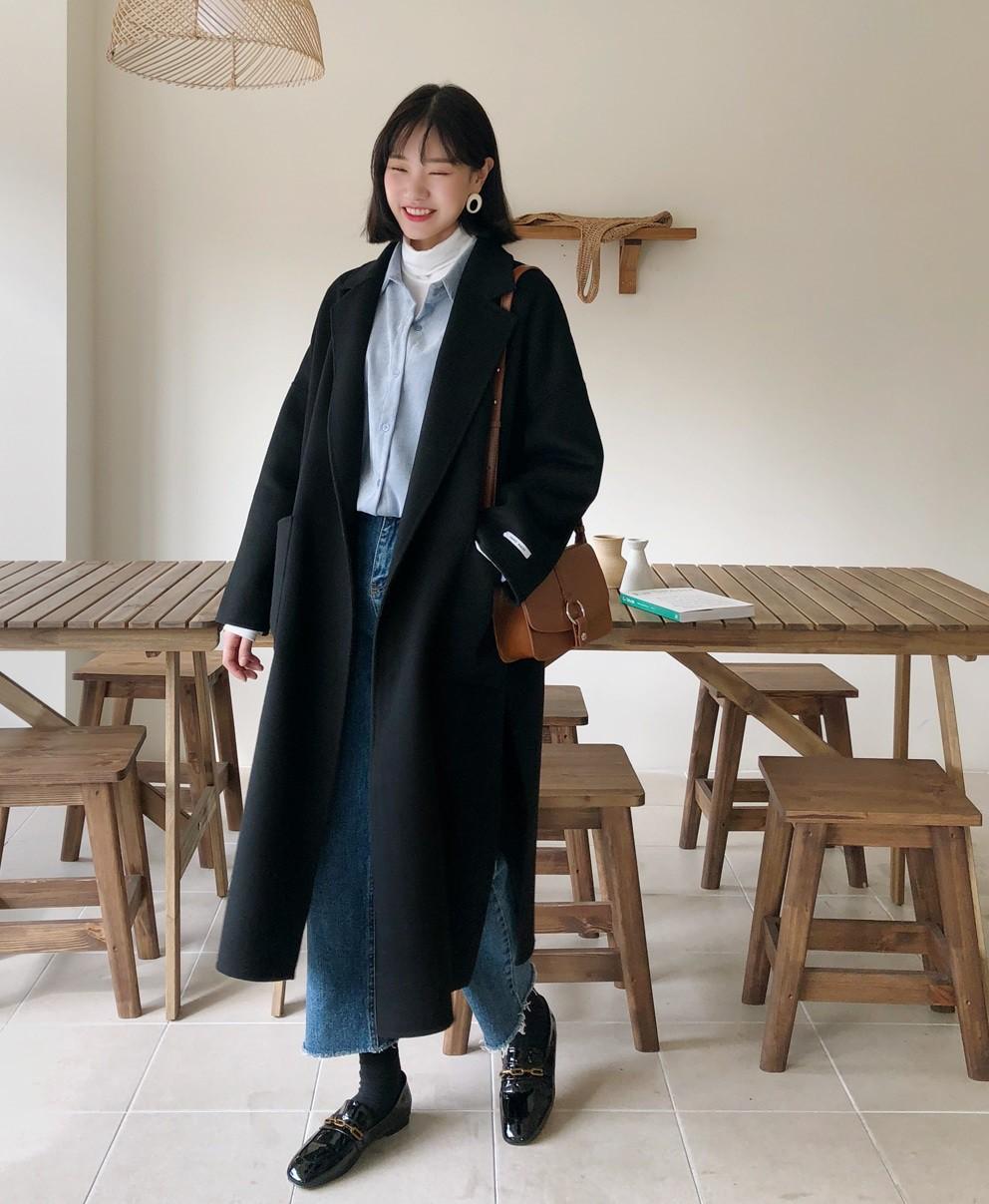 Bộ đôi áo khoác dài + quần ống rộng chẳng những không kén dáng mà còn biến mọi nàng thành quý cô sành điệu - Ảnh 5