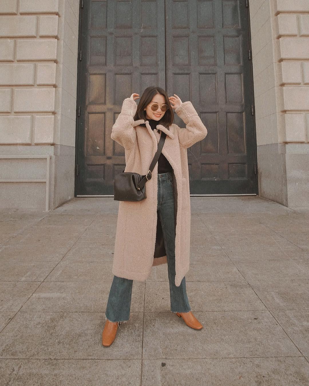 Bộ đôi áo khoác dài + quần ống rộng chẳng những không kén dáng mà còn biến mọi nàng thành quý cô sành điệu - Ảnh 6