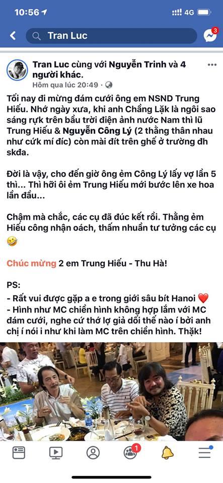 Bị đạo diễn Trần Lực chê 'giả dối' khi dẫn lễ cưới NSND Trung Hiếu, MC Thảo Vân - Thành Trung lên tiếng - Ảnh 3