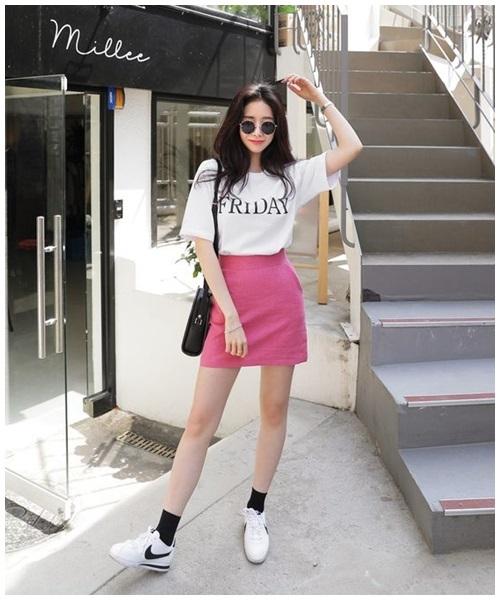 Mini skirt - món đồ 'gây bão' mùa nắng nóng - Ảnh 4