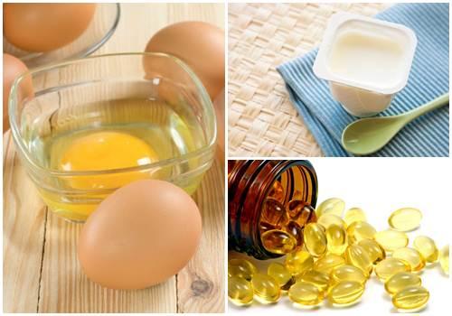 Công thức sữa chua không đường, lòng đỏ trứng và và vitamin E trị mụn tự nhiên