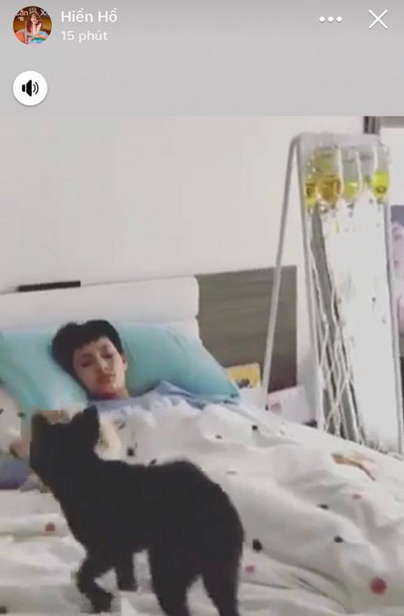 Hậu tin đồn tình cảm với rapper B Ray, Hiền Hồ bất ngờ nhập viện, truyền một lúc 5 chai thuốc - Ảnh 1