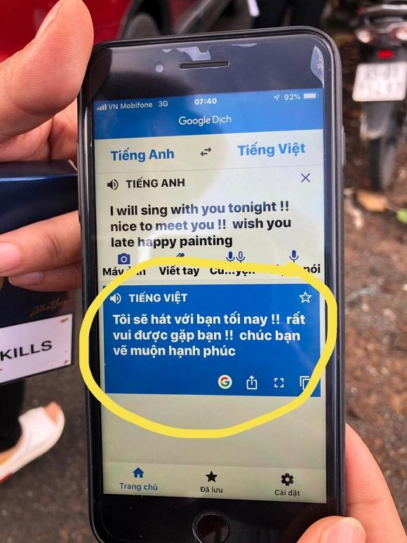 Không chỉ bóc phốt bạn thân sai lỗi tiếng Anh, Đàm Vĩnh Hưng còn đăng hình bạn mình đang dùng google dịch cực hài - Ảnh 2