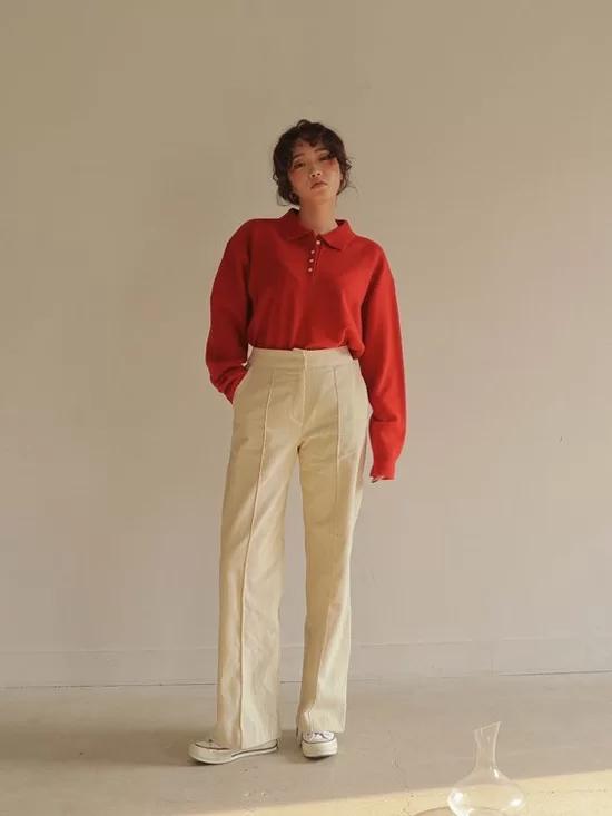 Phối quần ống suông cho trang phục mùa thu - Ảnh 2