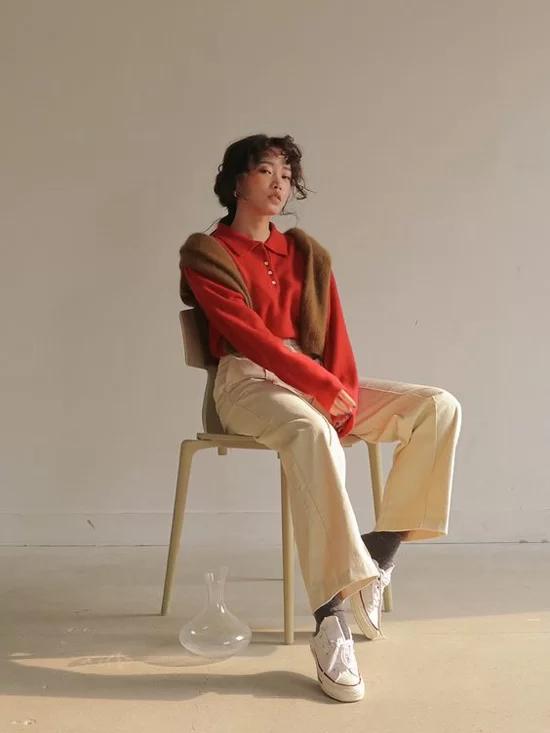 Phối quần ống suông cho trang phục mùa thu - Ảnh 5