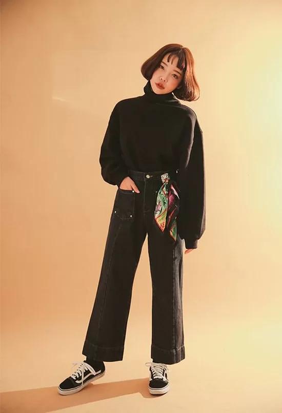Phối quần ống suông cho trang phục mùa thu - Ảnh 10