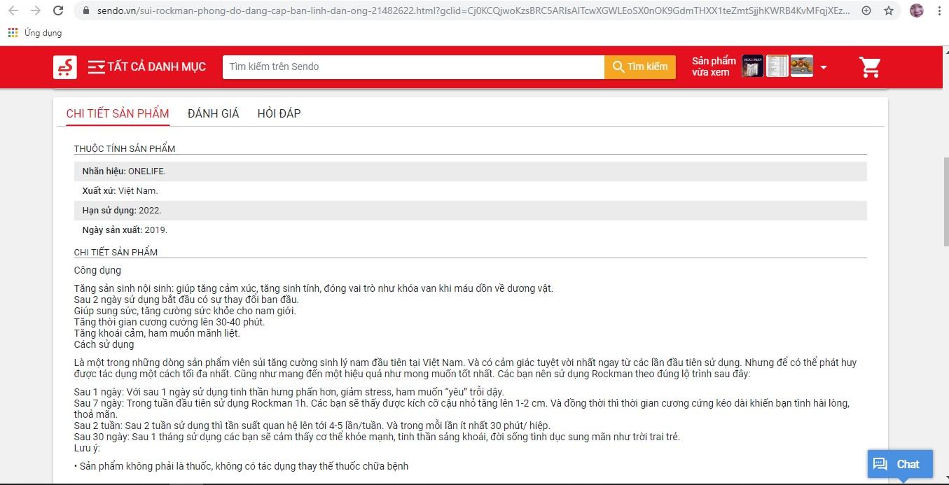 """Bị """"bêu tên"""", viên sủi Rockman vẫn rầm rộ quảng cáo công dụng trên 'chợ mạng' - Ảnh 6"""