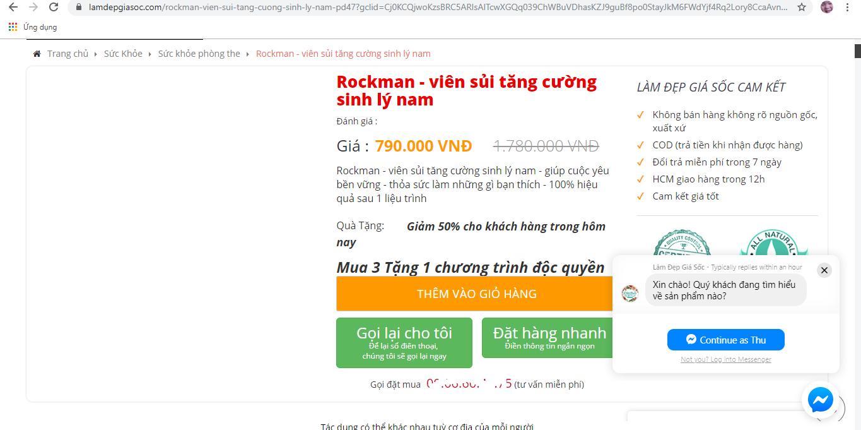 """Bị """"bêu tên"""", viên sủi Rockman vẫn rầm rộ quảng cáo công dụng trên 'chợ mạng' - Ảnh 4"""