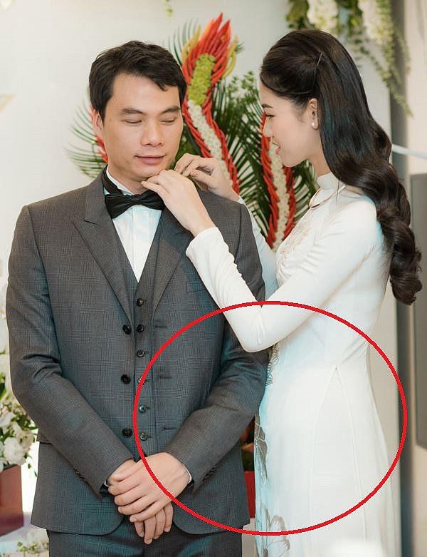 Nổi tiếng với vóc dáng 'mình hạc xương mai', Á hậu Thanh Tú lộ vòng 2 'bất thường' trước đám cưới - Ảnh 2