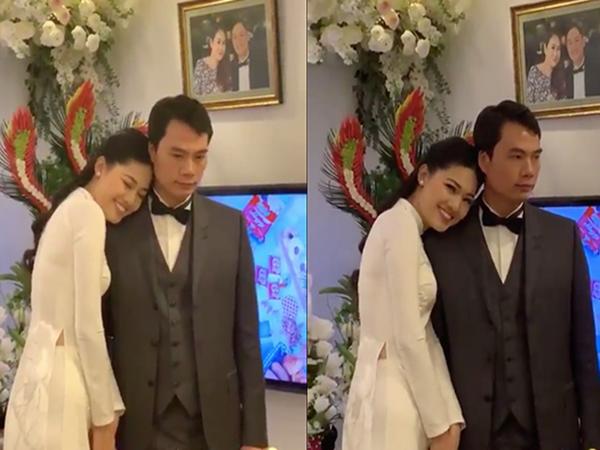 Nổi tiếng với vóc dáng 'mình hạc xương mai', Á hậu Thanh Tú lộ vòng 2 'bất thường' trước đám cưới - Ảnh 1