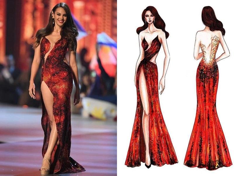 Lê Âu Ngân Anh bị bóc phốt bắt chước Hoa hậu Hoàn vũ Catriona Gray - Ảnh 2