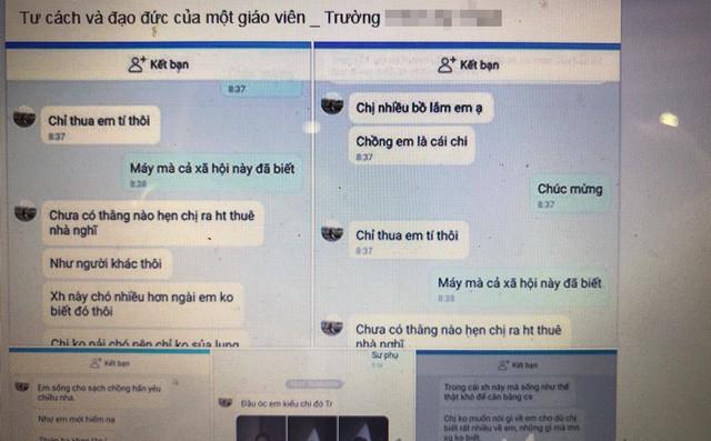 Bị đăng tin nhắn với chồng người khác lên Facebook, cô giáo thách thức 'chị nhiều bồ lắm, chồng em là cái chi' rồi đến nhà đánh vợ đồng nghiệp - Ảnh 1