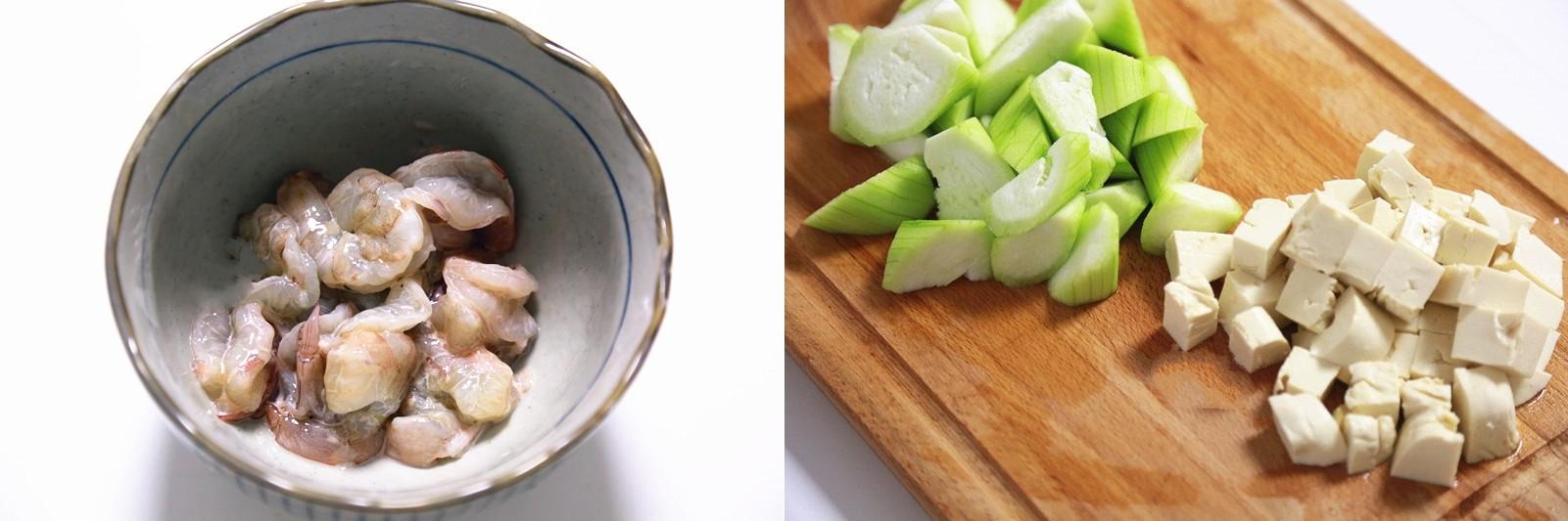 Canh mướp nấu tôm đậu phụ thanh mát ngày hè - Ảnh 2