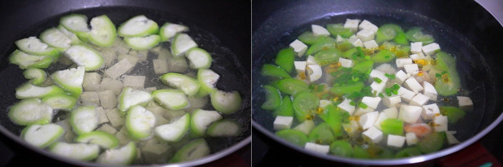 Canh mướp nấu tôm đậu phụ thanh mát ngày hè - Ảnh 4