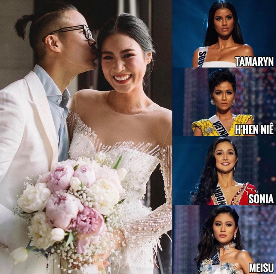 Không tới chúc mừng Mâu Thủy, H'Hen Niê đi làm phù dâu cho Hoa hậu Hoàn vũ Thái Lan - Ảnh 1
