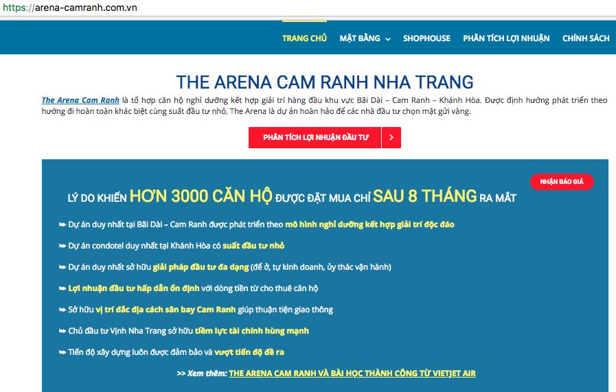 Bị đình chỉ, dự án nghỉ dưỡng The Arena Cam Ranh vẫn thi công, rao bán rầm rộ? - Ảnh 5