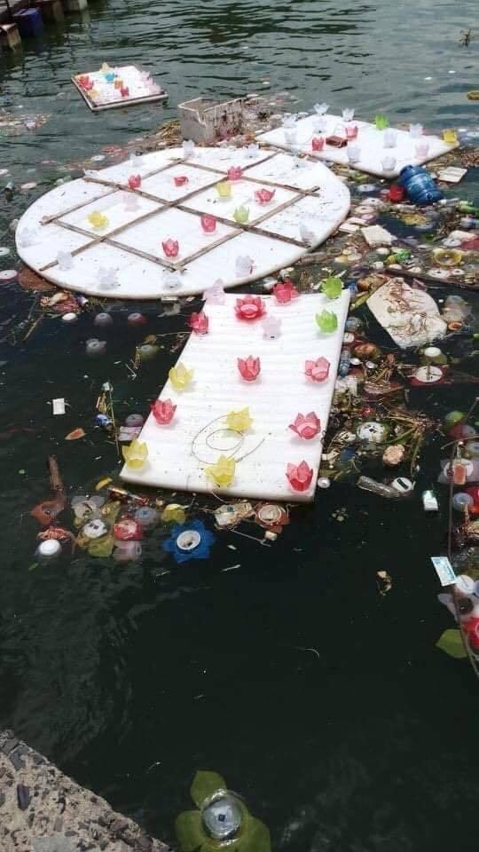 Thả 3 vạn hoa đăng nhựa xuống biển Cát Bà là để 'bảo vệ môi trường' - Ảnh 3
