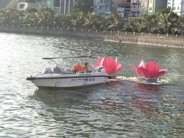Thả 3 vạn hoa đăng nhựa xuống biển Cát Bà là để 'bảo vệ môi trường' - Ảnh 5