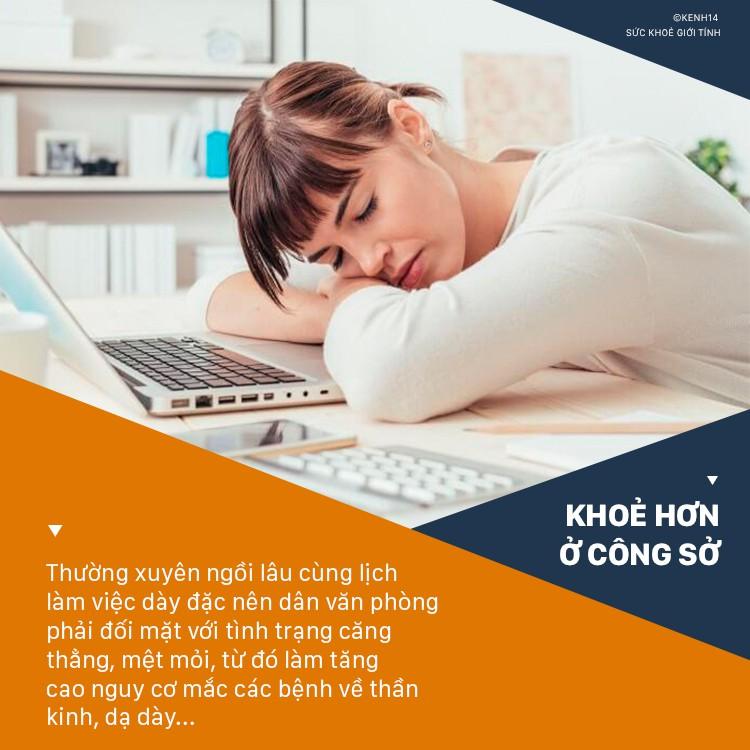 Dân văn phòng hay căng thẳng có nguy cơ đối mặt với hàng loạt vấn đề sức khỏe sau - Ảnh 1
