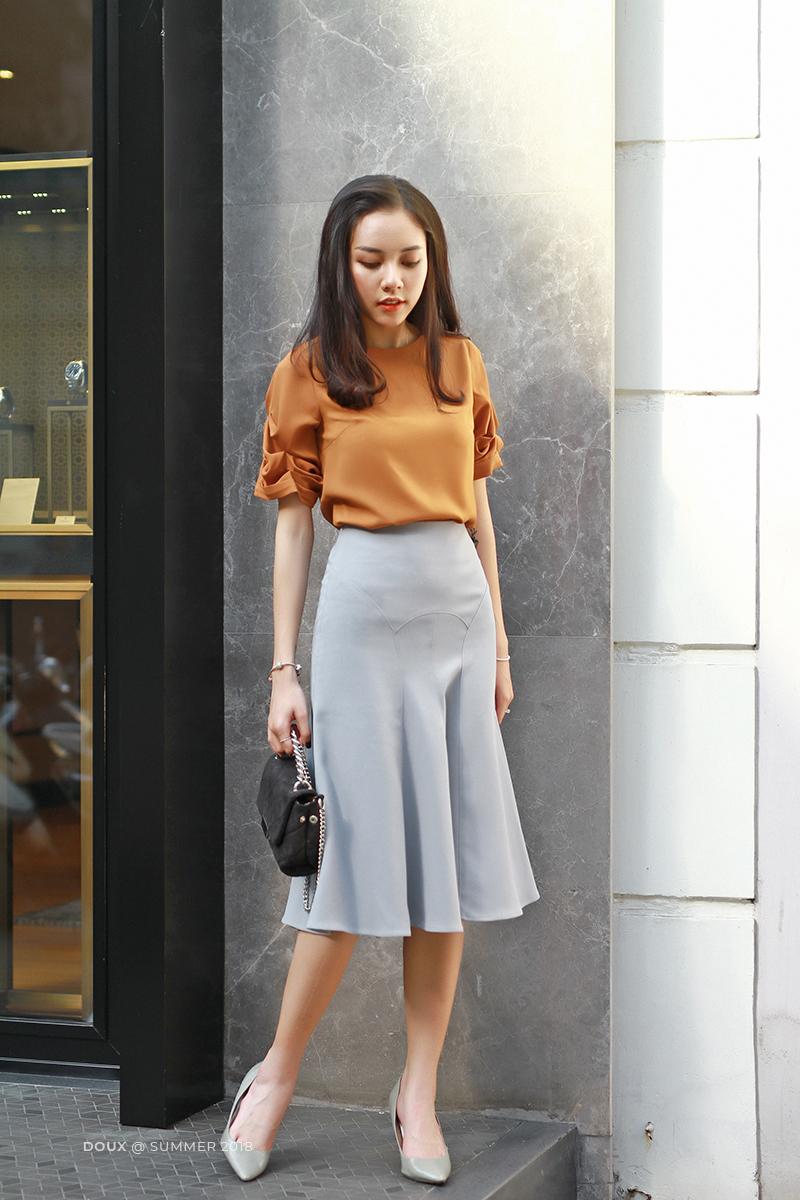4 kiểu chân váy dài qua gối cực phù hợp để diện trong ngày Tết, vừa đẹp vừa không lo hớ hênh - Ảnh 13