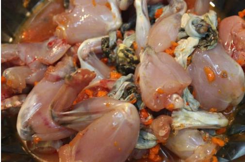 Hướng dẫn cách làm món ếch nướng muối ớt đậm đà dân dã - Ảnh 2
