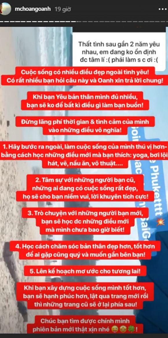 Huỳnh Anh công khai đăng ảnh bạn gái mới, Hoàng Oanh phản ứng: 'cuộc sống có nhiều điều đẹp ngoài tình yêu' - Ảnh 2