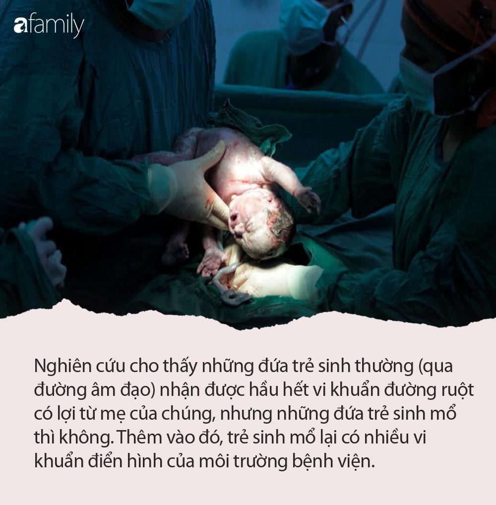 Chẳng những mẹ đau đớn mà trẻ sinh mổ còn đối mặt với nguy cơ sức khỏe nghiêm trọng này - Ảnh 1