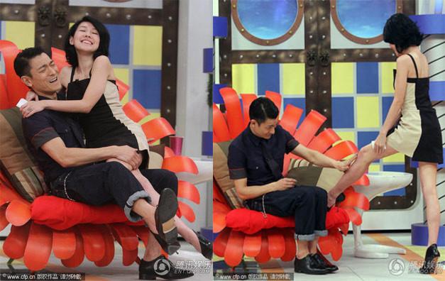Những cảnh phản cảm của giới nghệ sĩ trên sóng truyền hình Trung Quốc - Ảnh 1