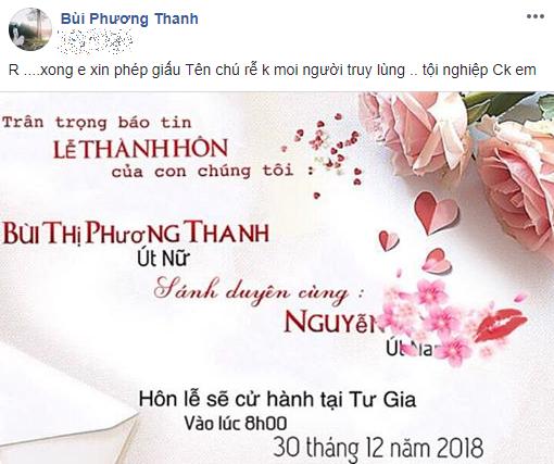 Phương Thanh khoe thiệp cưới ghi cụ thể ngày giờ 'lên xe hoa', quyết giấu tên ông xã tương lai - Ảnh 1