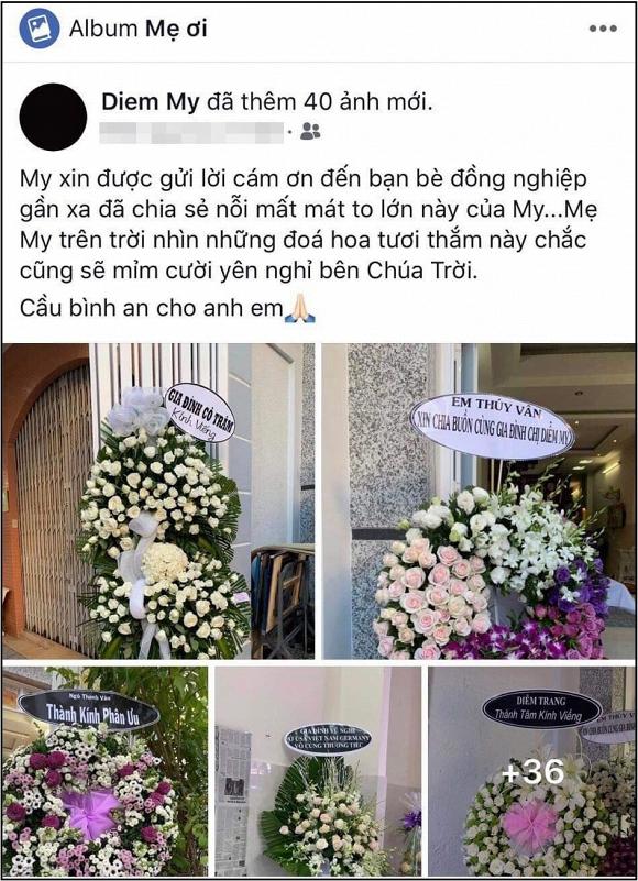 Diễm My 9x thay mặt gia đình cám ơn mọi người sau tang lễ của mẹ, dàn sao Việt đồng loạt gửi lời động viên hết lòng - Ảnh 1
