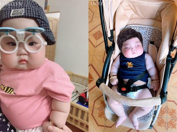 Nhìn đôi má bánh bao của 'cậu bé Bút Chì' phiên bản đời thực, chẳng ai ngờ bé từng sinh non đến 1 tháng - Ảnh 6