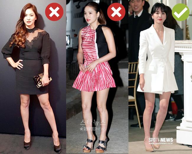 Rút kinh nghiệm từ Song Hye Kyo, chị em sẽ biết mẫu giày nào nên - không nên diện nếu sở hữu cặp chân ngắn và hơi thô - Ảnh 10