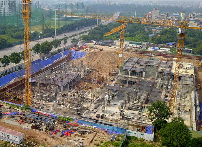 Hà Nội: Công trình bệnh viện An Sinh rầm rộ thi công khi chưa có giấy phép - Ảnh 3
