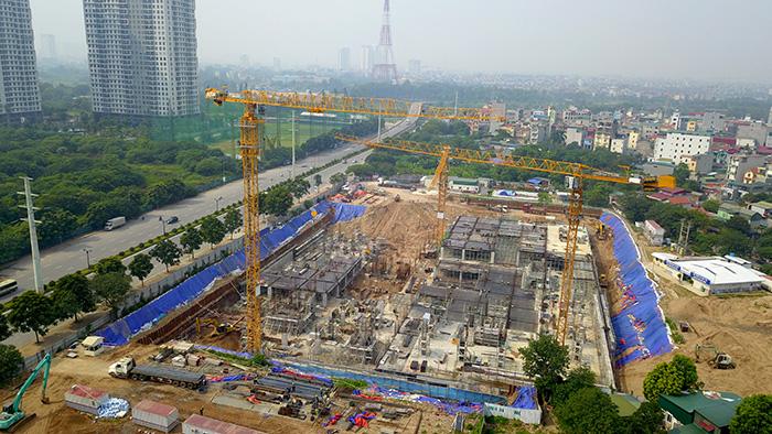 Hà Nội: Công trình bệnh viện An Sinh rầm rộ thi công khi chưa có giấy phép - Ảnh 4