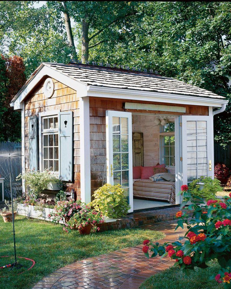 8 mẹo đơn giản thiết kế nhà kho phía sân sau thành góc thư giãn đẹp như tranh vẽ - Ảnh 8